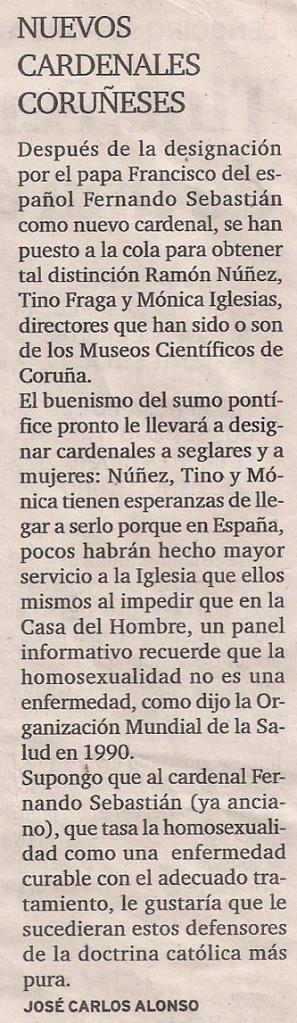 Carta 366- El Ideal G- Museos científicos Coruña- 22 ene 2014