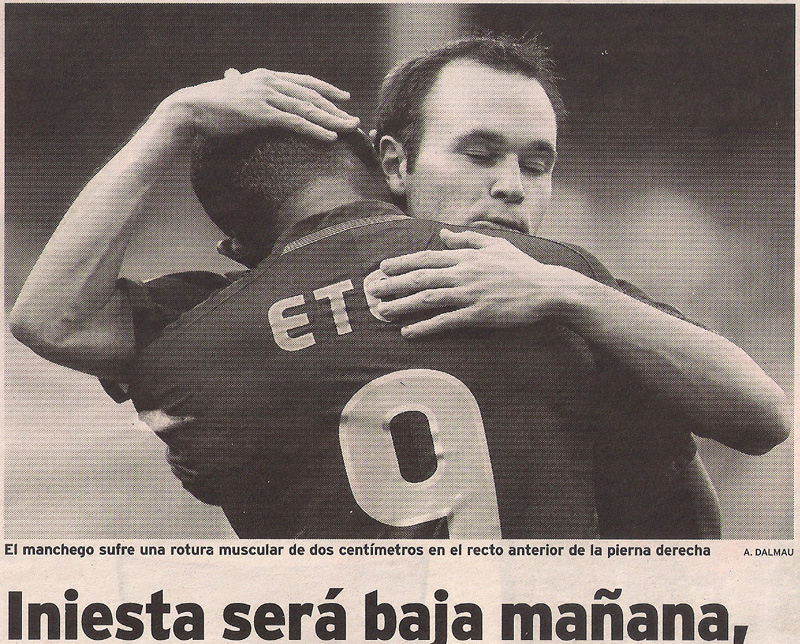 Carta 367- fútbol- andrés iniesta- El Ideal G- 12 may 2009